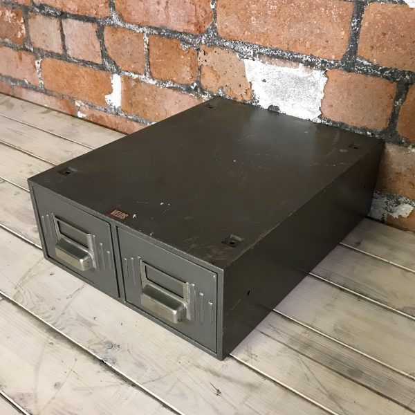 Vintage Industrial Grey Engineers Velos Filing Drawers
