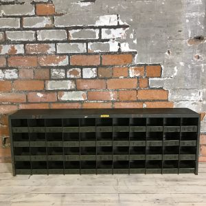 Industrial Vintage Green Engineers Cabinet Racking