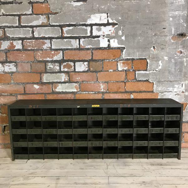 Industrial Vintage Green Engineers Cabinet Racking