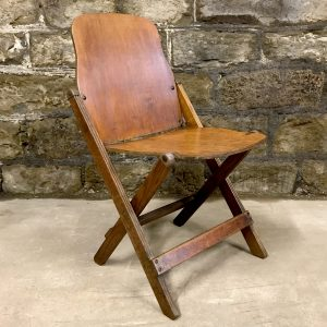 Antique wooden military folding chair