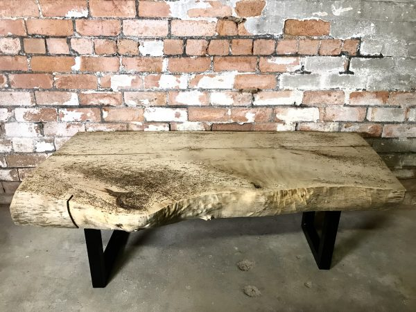 Big Chunky Slab Hardwood Sycamore Coffee Table