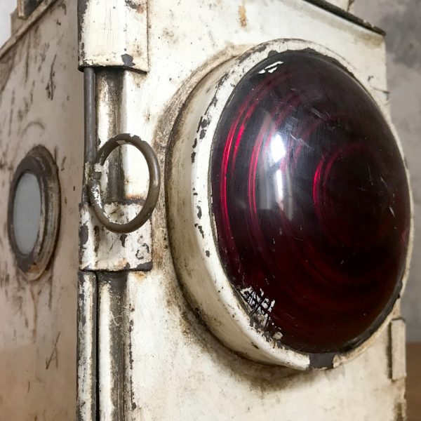 Original British railway vintage tail side train lamp