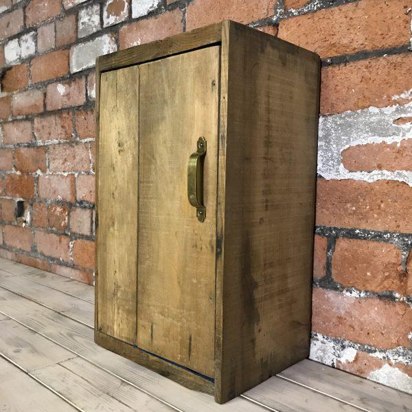 Cognac Vintage Storage Wooden Cupboard Cabinet