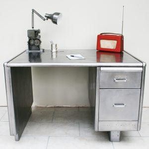 Vintage Industrial Original Constructors Metal Office Desk