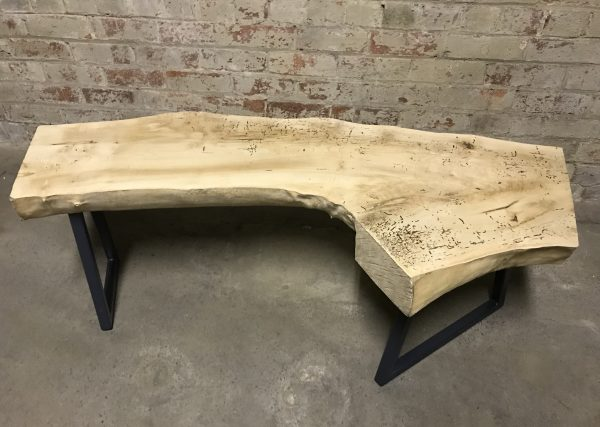 Hardwood Industrial Reclaimed Slab Coffee Table