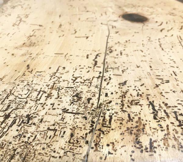Hardwood Reclaimed Industrial Slab Coffee Table