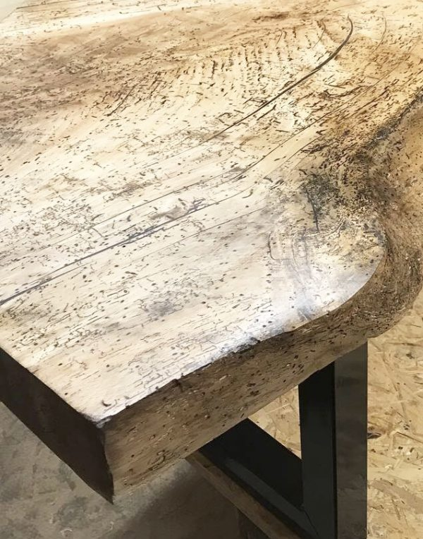 Hardwood Reclaimed Industrial Slab Coffee Table