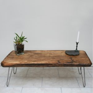 Solid hardwood industrial reclaimed bespoke coffee table