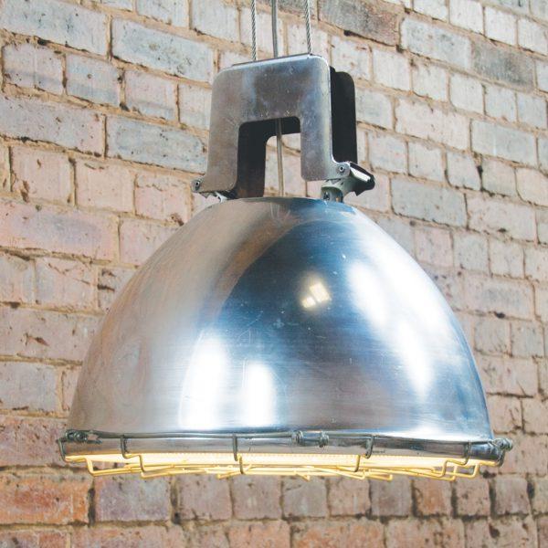 Industrial vintage holophane pendant light