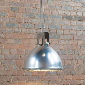 Industrial vintage holophane pendant light