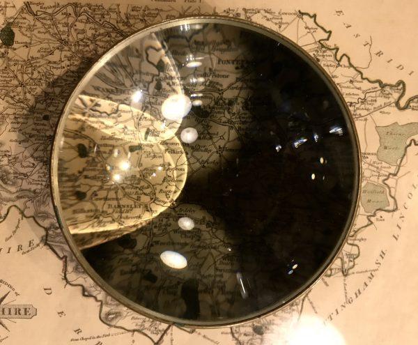 Vintage Antique WW2 Map Magnifier