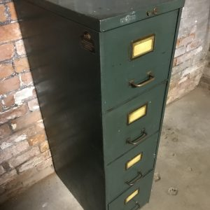 Industrial Roneo Metal Filing Cabinet Drawers