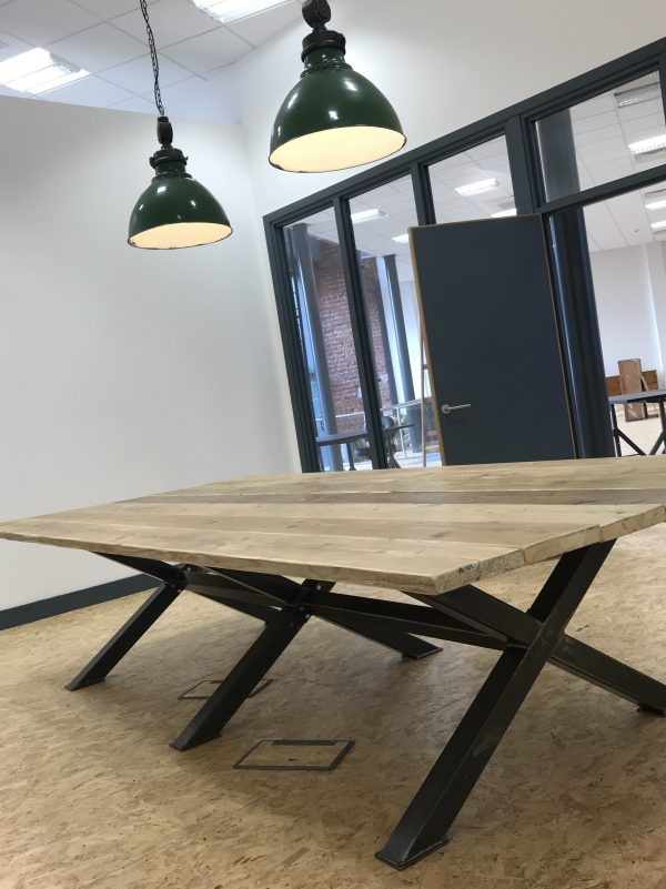 Industrial Boardroom Table. Office Conference Meeting Room Restaurant Table 1