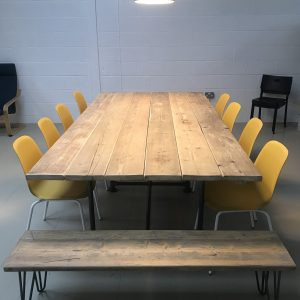 Industrial Boardroom Table. Office Conference Meeting Room Restaurant Table Dining 1