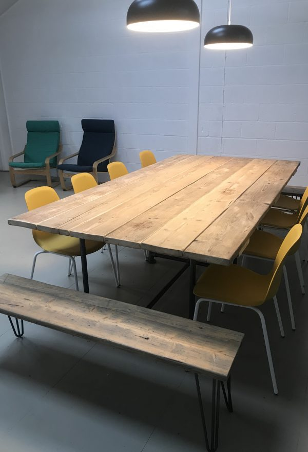 Industrial Boardroom Table. Office Conference Meeting Room Restaurant Table Dining 2