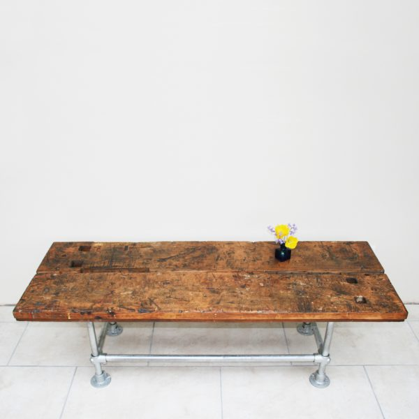 Industrial reclaimed vintage workbench coffee table
