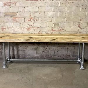 Industrial Reclaimed Scaffold Board Dining Bench Coffee Table