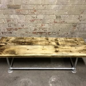 Industrial Reclaimed Scaffold Board Coffee TableIndustrial Reclaimed Scaffold Board Table