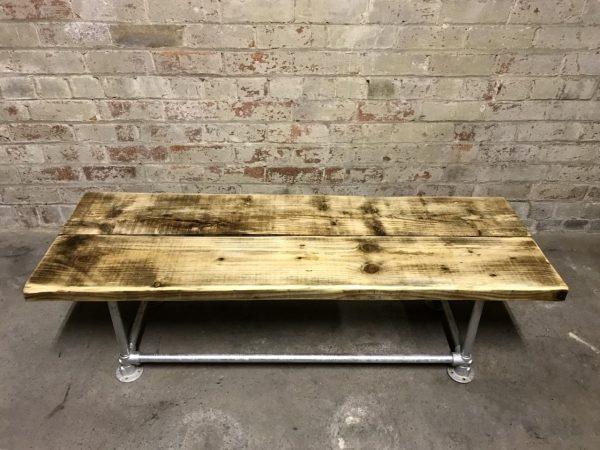 Industrial Reclaimed Scaffold Board Coffee TableIndustrial Reclaimed Scaffold Board Table