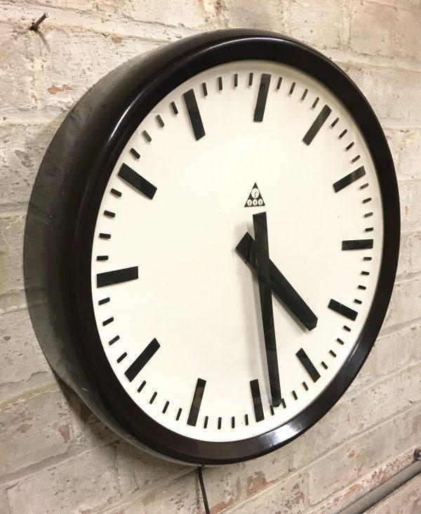 Industrial Vintage Factory Pragotron Bakelite Wall Clock
