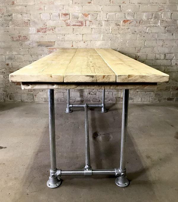 Industrial Vintage Scaffold Board Dinning Table 10
