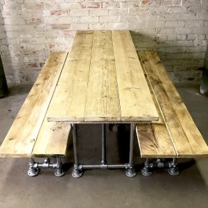 Industrial Vintage Scaffold Board Dinning Table 2