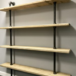 Large Industrial Pipe Shelving 1