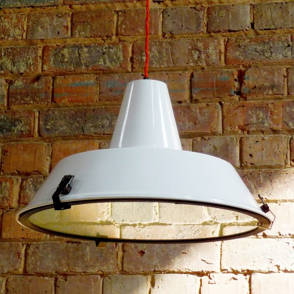 Industrial vintage retro military M.O.D pendant light.