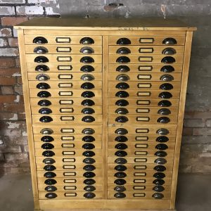 Machinists Industrial Vintage Beech Drawer Unit