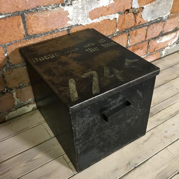 Vintage Industrial Metal Engineers Document Box