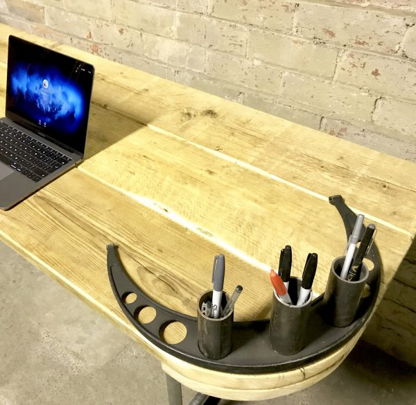 Industrial Reclaimed Scaffold Board Office Computer Desk Work Station Steel Legs