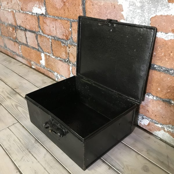 Vintage Industrial Metal Engineers Lock Box Tin