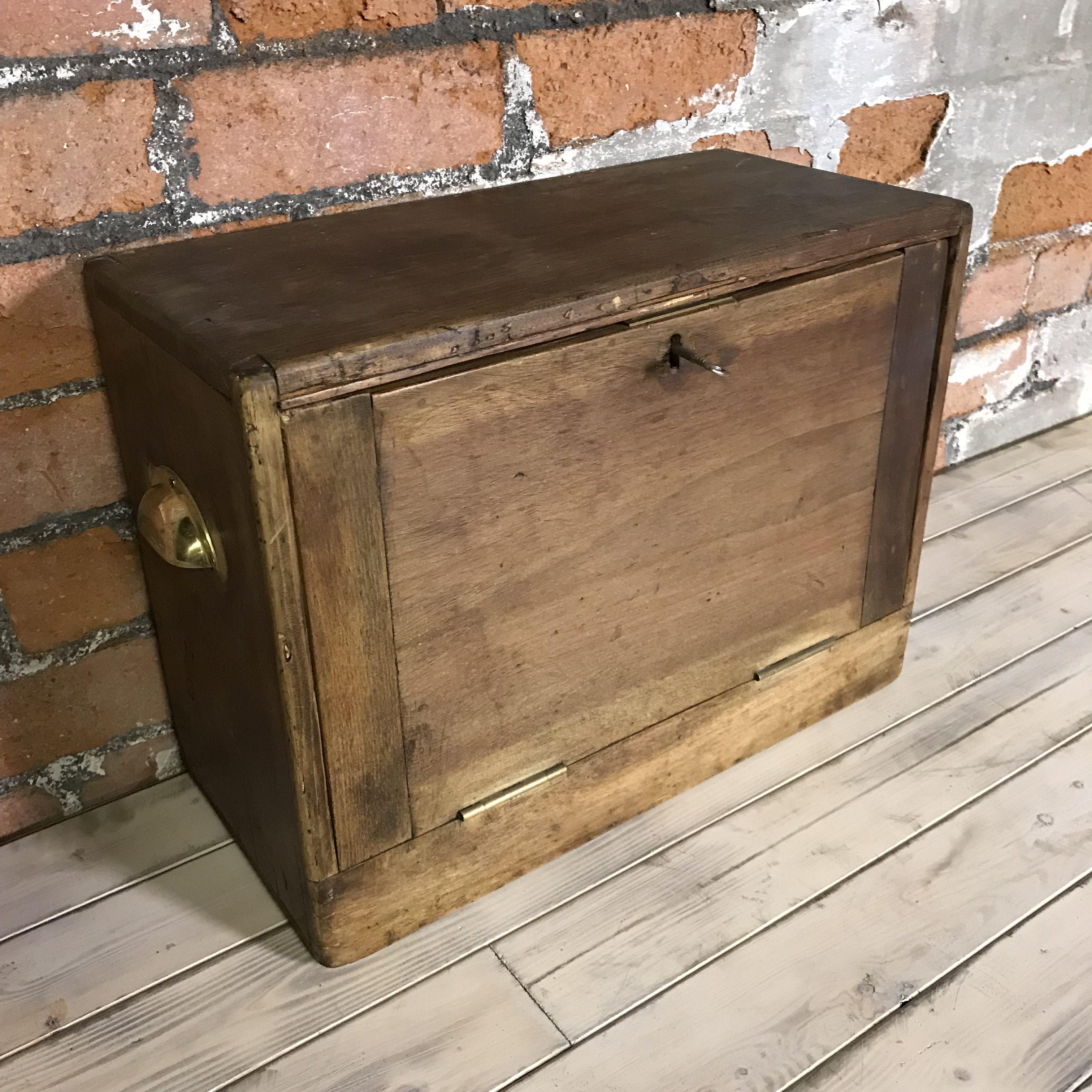 Vintage 4 Drawer Wooden Specimen Cabinet