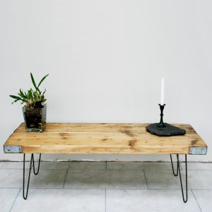 Vintage industrial reclaimed scaffold board coffee table